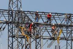Линия электропередач будет построена Стоковые Изображения RF