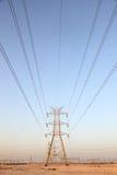 Линия электропередач в Катаре Стоковое Фото