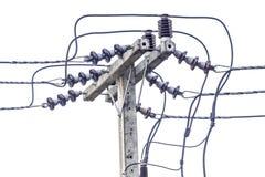 Линия электропередач на белой предпосылке. Стоковые Фотографии RF