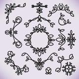 Линия элементы вектора дизайна рамки, орнамент, эмблема иллюстрация штока