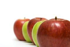 линия яблока Стоковые Изображения