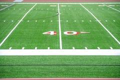 линия ярд футбола 40 полей Стоковое Фото