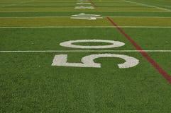 линия ярд футбола поля 50 Стоковые Изображения