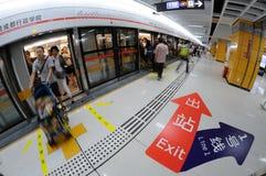 Линия 2 метро Chengdu Стоковые Фотографии RF