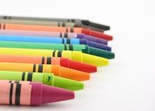линия crayons Стоковое Изображение RF