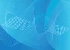 линия halftone предпосылки искусства голубая Стоковые Фотографии RF
