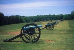 линия napoleon батареи артиллерии около s stonewall стоковое фото