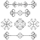 линия ornamental рассекателя 39 штанг Иллюстрация штока