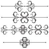 линия ornamental рассекателя 41 штанги Иллюстрация штока