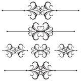 линия ornamental рассекателя 42 штанг Бесплатная Иллюстрация