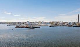 Линия Silja парома причалена в течение дня в городе Sto Стоковые Фотографии RF