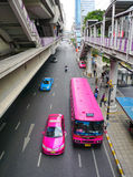 Линия Skytrain Silom Стоковые Изображения RF