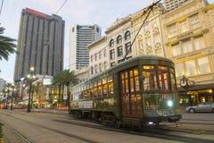 Линия St Charles трамвая RTA в Новом Орлеане Стоковая Фотография