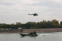 Линкоры во время военного парада Стоковое фото RF