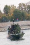 Линкоры во время военного парада Стоковое Изображение RF