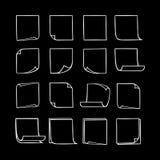 Липкие примечания Collection-03 Стоковые Фотографии RF
