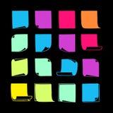 Липкие примечания Collection-08 Стоковое Изображение