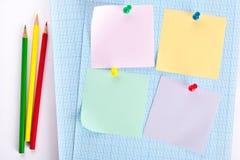 Липкие установленные бумаги Стоковые Изображения RF