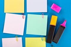 Липкие установленные бумаги Стоковые Фотографии RF