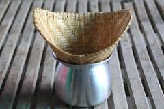 Липкий рис испаряясь бак Стоковое фото RF