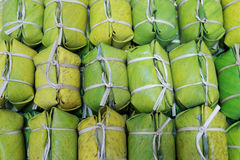Липкий рис и бананы Стоковые Фотографии RF