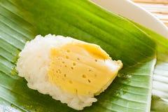 Липкий рис с яичком Стоковое Изображение