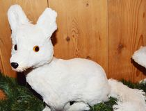 Лиса белого рождества Стоковая Фотография RF