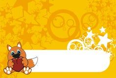 лисица шаржа предпосылки Стоковые Фото