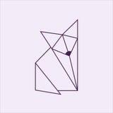 Лисица Origami Стоковые Изображения RF