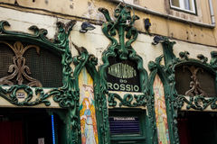 Лиссабон городской: Старое grafo ³ Animatà кинотеатра делает Rossio Стоковое Изображение