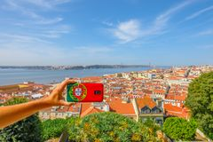 Лиссабон изображает антенну Стоковые Изображения RF