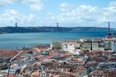 Лиссабон от Castelo de Sao Джордж (Португалия) Стоковые Изображения