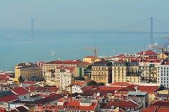 Лиссабон сверху стоковая фотография