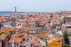 Лиссабон с точки зрения Graca стоковое изображение