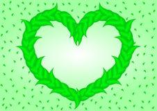 лиственное сердце Стоковые Изображения