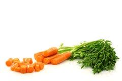 листво отрезока морковей свежее Стоковые Изображения