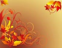 листво предпосылки осени Стоковое Изображение
