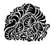 листво черного состава декоративное Стоковая Фотография RF