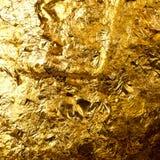 Листовое золото на скульптуре Будды Стоковое Изображение RF