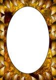 листовые золота рамок старые иллюстрация штока
