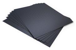 Листы волокна углерода Стоковая Фотография RF
