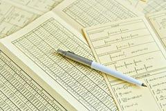 листы карандаша математики Стоковая Фотография