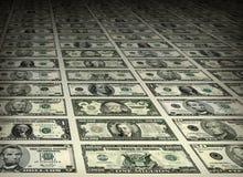 Листы долларовой банкноты сортированных деноминаций Стоковые Фото