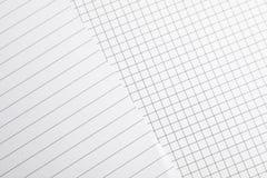 Листы тетради как предпосылка стоковое фото rf