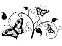 листья бабочек иллюстрация вектора