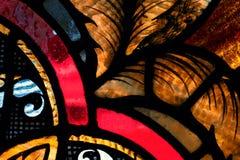 Листья Брайна в цветном стекле Стоковая Фотография