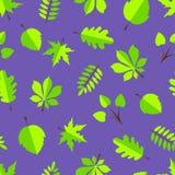 Листья в плоском дизайне Стоковые Изображения RF