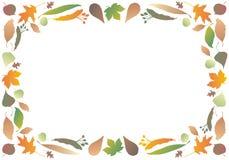 листья граници осени Стоковые Изображения