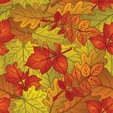Листья заводов, безшовные, осень иллюстрация вектора