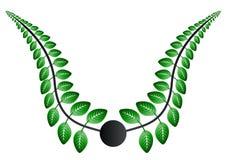 листья зеленого цвета Иллюстрация штока